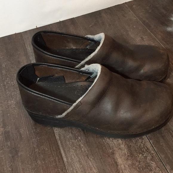 5da5b04027d95 Dansko mules clogs size 41 oiled antique leather